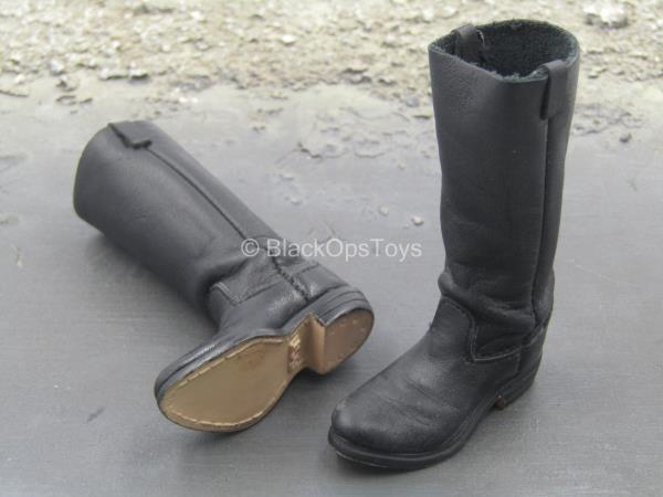 1//6 Scale Toy Western Gear Brown Leather 1880/'s Boots Foot Type