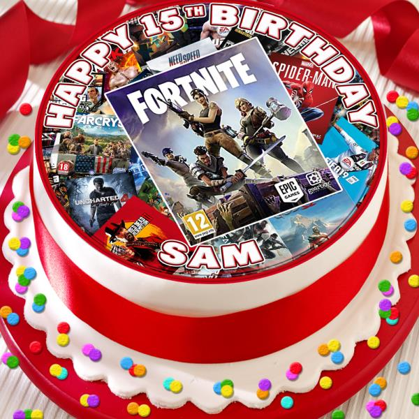 Awe Inspiring Games Console Your Game Birthday Personalised 7 5 Inch Edible Cake Funny Birthday Cards Online Hendilapandamsfinfo