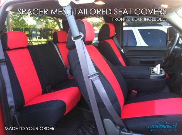 5 Color Options Coverking Custom Seat Covers Spacer Mesh Front and Rear Row