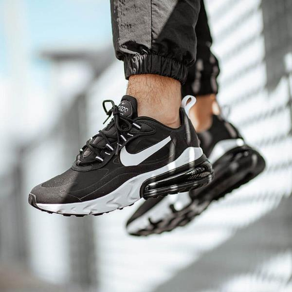 Details about NIKE Air Max 270 React Black / White Mens Shoes
