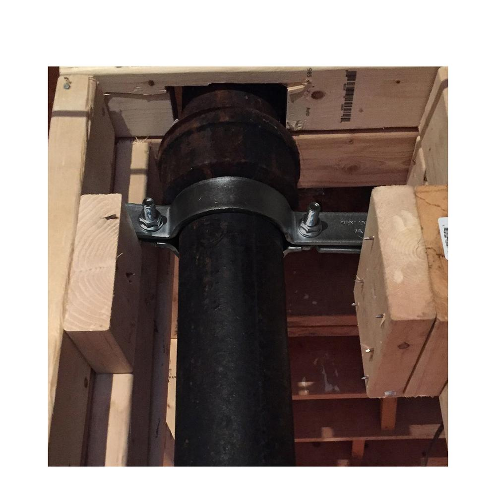 Uncoated Steel Highcraft Riser Clamp Piping Support