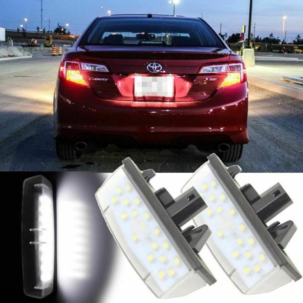 White Led License Plate Lamps For Lexus Is Gs Es Rx Toyota
