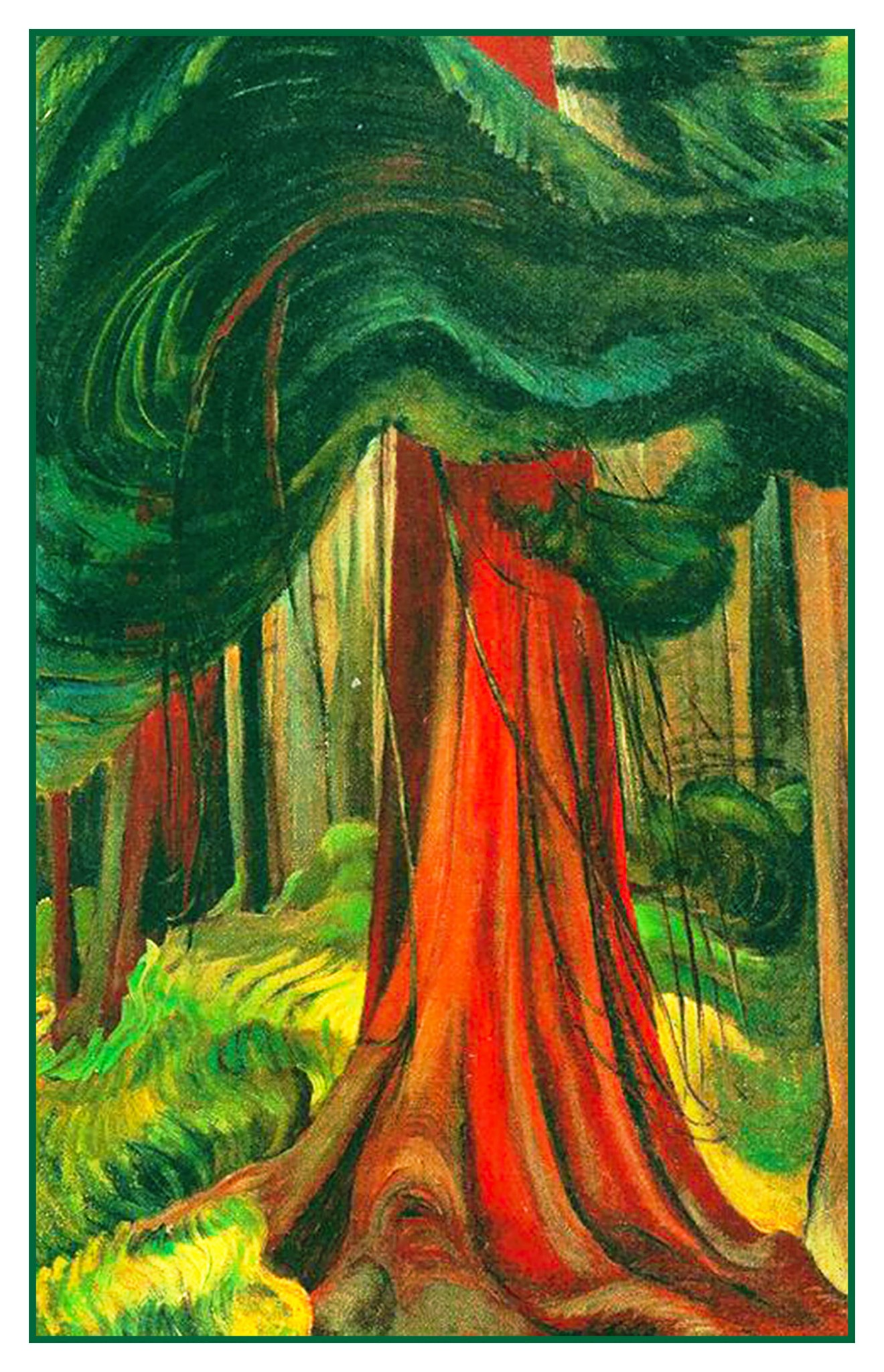 Emily Carr Mrs Dourse Chieftainess Kitwancool Counted Cross Stitch Pattern Chart