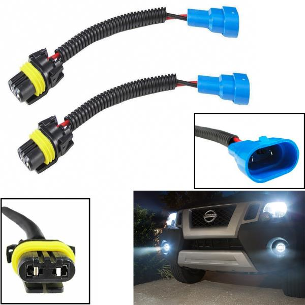 Pair H11 Extension Wire Harness Socket Connect Adater For DRL Fog Lamp Headlight