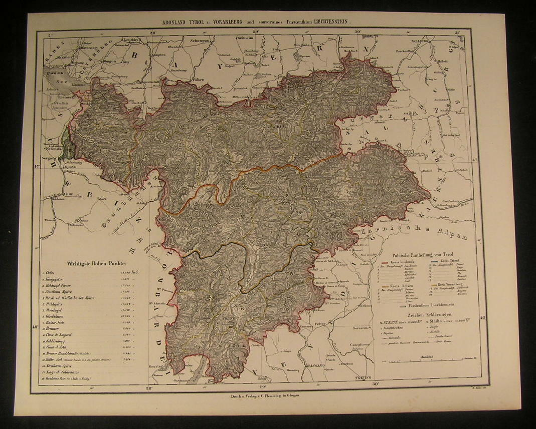 89SE repro Northumberland in 1925 Old map of Henshaw Melkridge