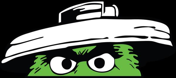 Details About Sesame Street Oscar The Grouch Trash Can Logo Vinyl Decal Sticker 5 Sizes