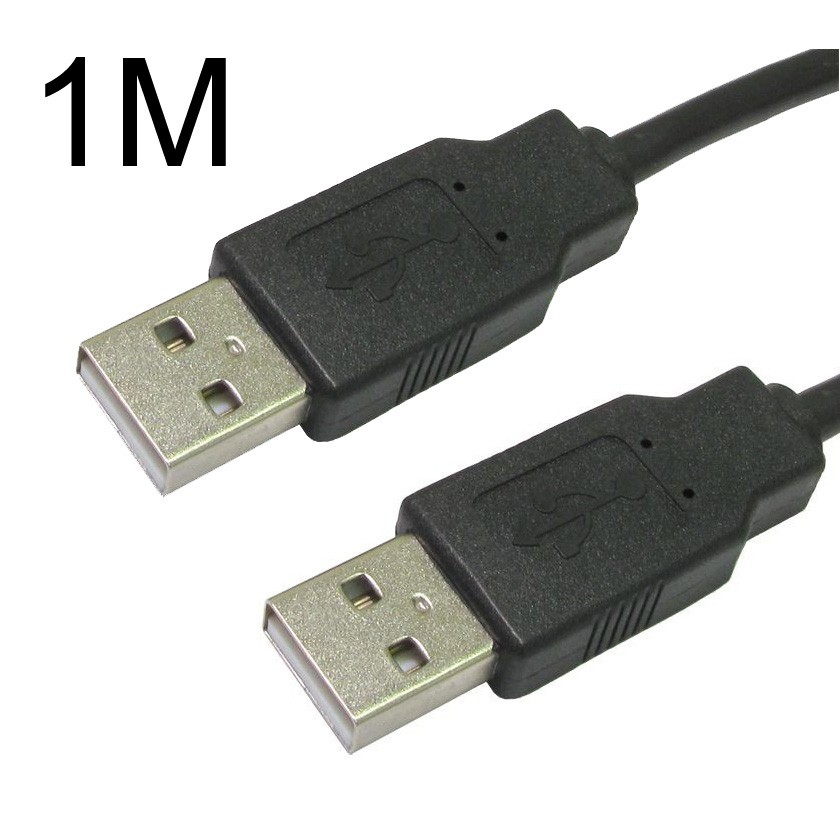 USB 2.0 High Speed Cable Black A-Male to A-Male