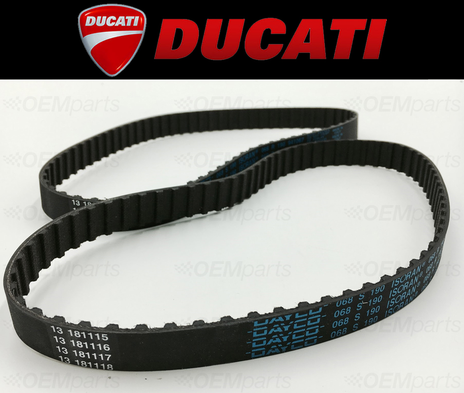 Set of 2 Camshaft SQUARE Timing Belts Ducati 400//600//750 See Fitment Chart