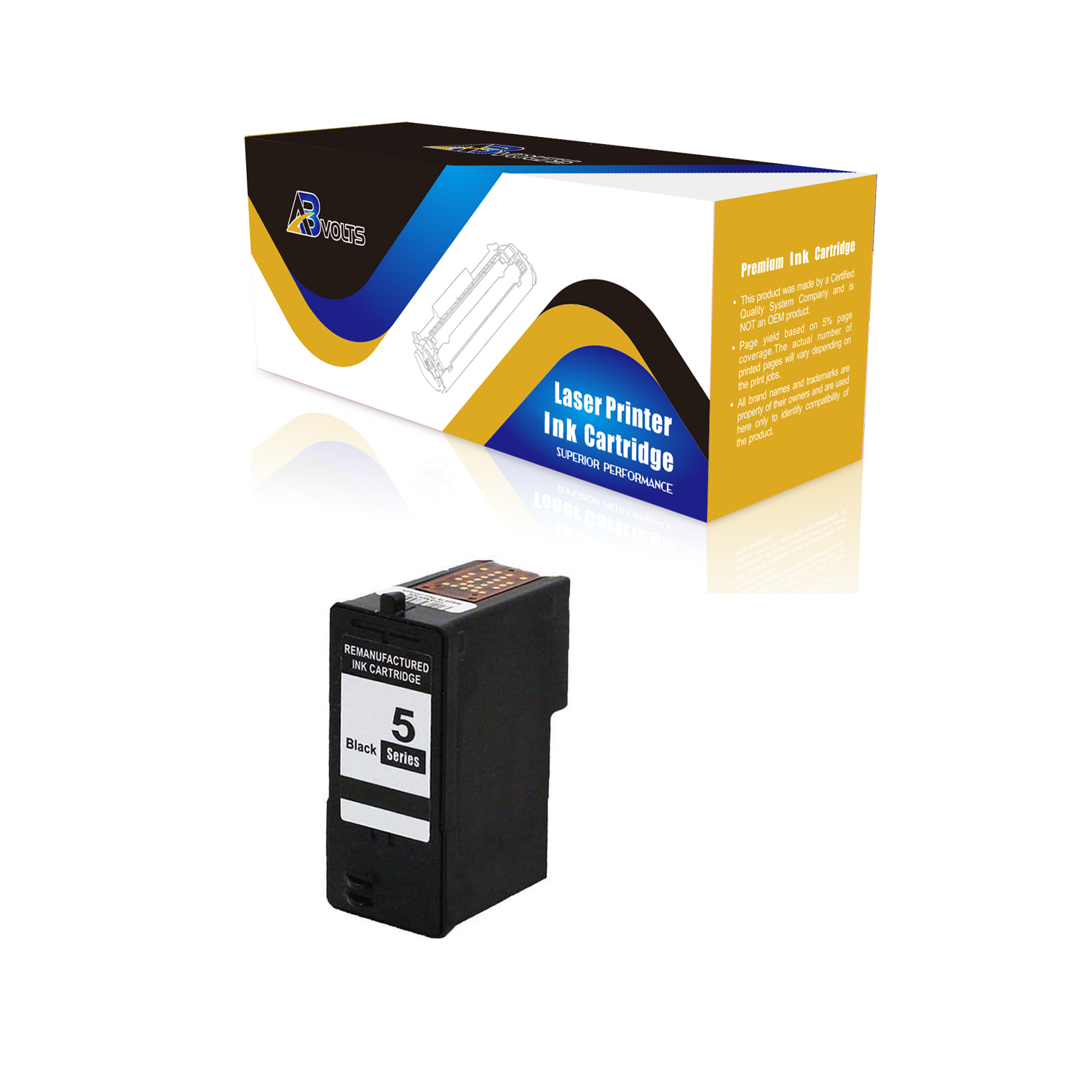AB Volts Remanufactured Ink Cartridge Replacement for Dell M4640 for 922 924 942 944 946 962 964 922 924 942 944 962 964 Black,3-Pack