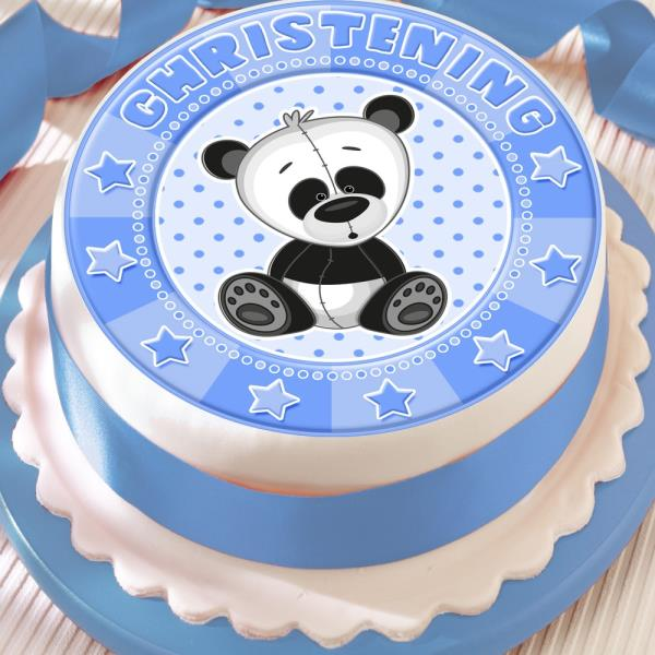 "7.5/""  Cake Topper New Baby Boy Blue Edible Icing"