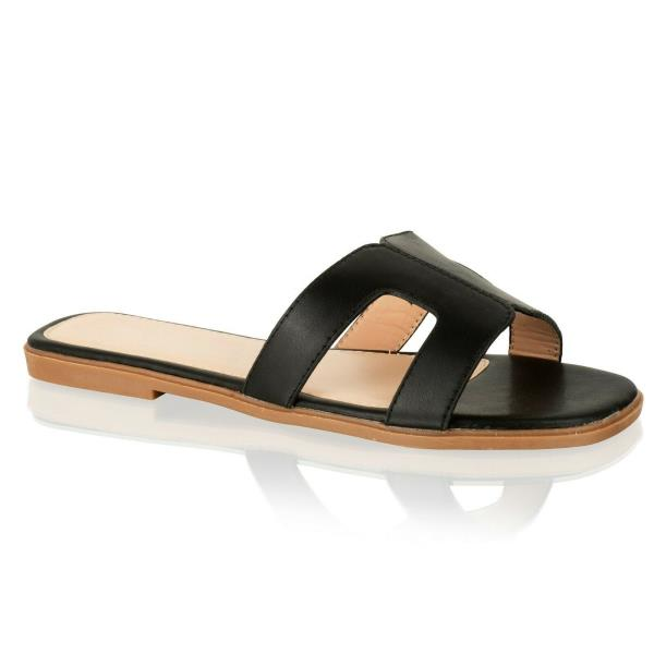 Womens Flat Slides Ladies Open Toe Sliders Summer Sandals Holiday Mules Size