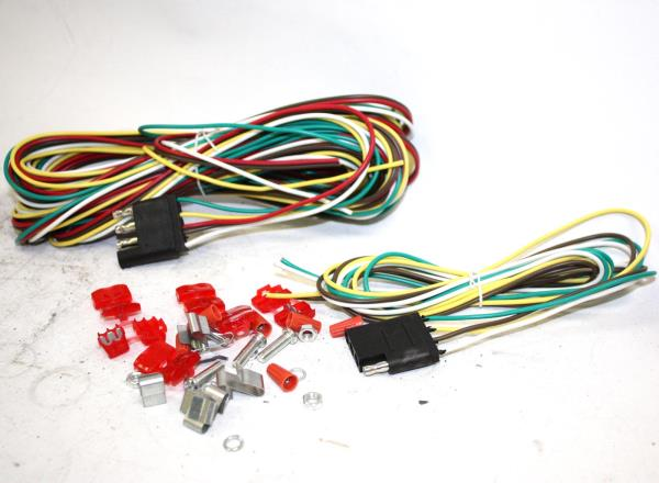 """18 Gauge 48/"""" Trailer Light Wire Harness 4 Way Wire Flat Connector Extension"""