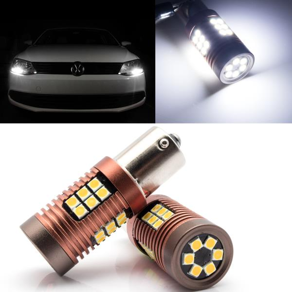 2PS 15-SMD Parts White LED Side Light Upgrade Bulbs Error Free Fit UP 11-17 T10