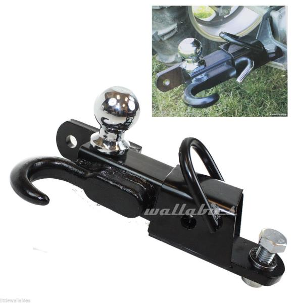 Atv Receiver Trailer Hitch 3 Way 2 Hitch Ball Hitching Towing Hook 3500lbs Ebay