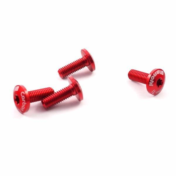 with Carbon Ti Logo Torx Red Color x 4pcs BIANCHI Bottle Screw Set of 4