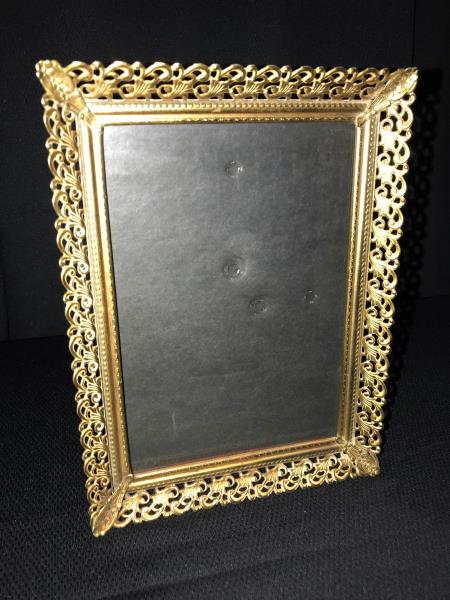 Vintage Gold Metal Photo Picture Frame 5x7 Shabby Chic Wedding Lattice Filigree Ebay