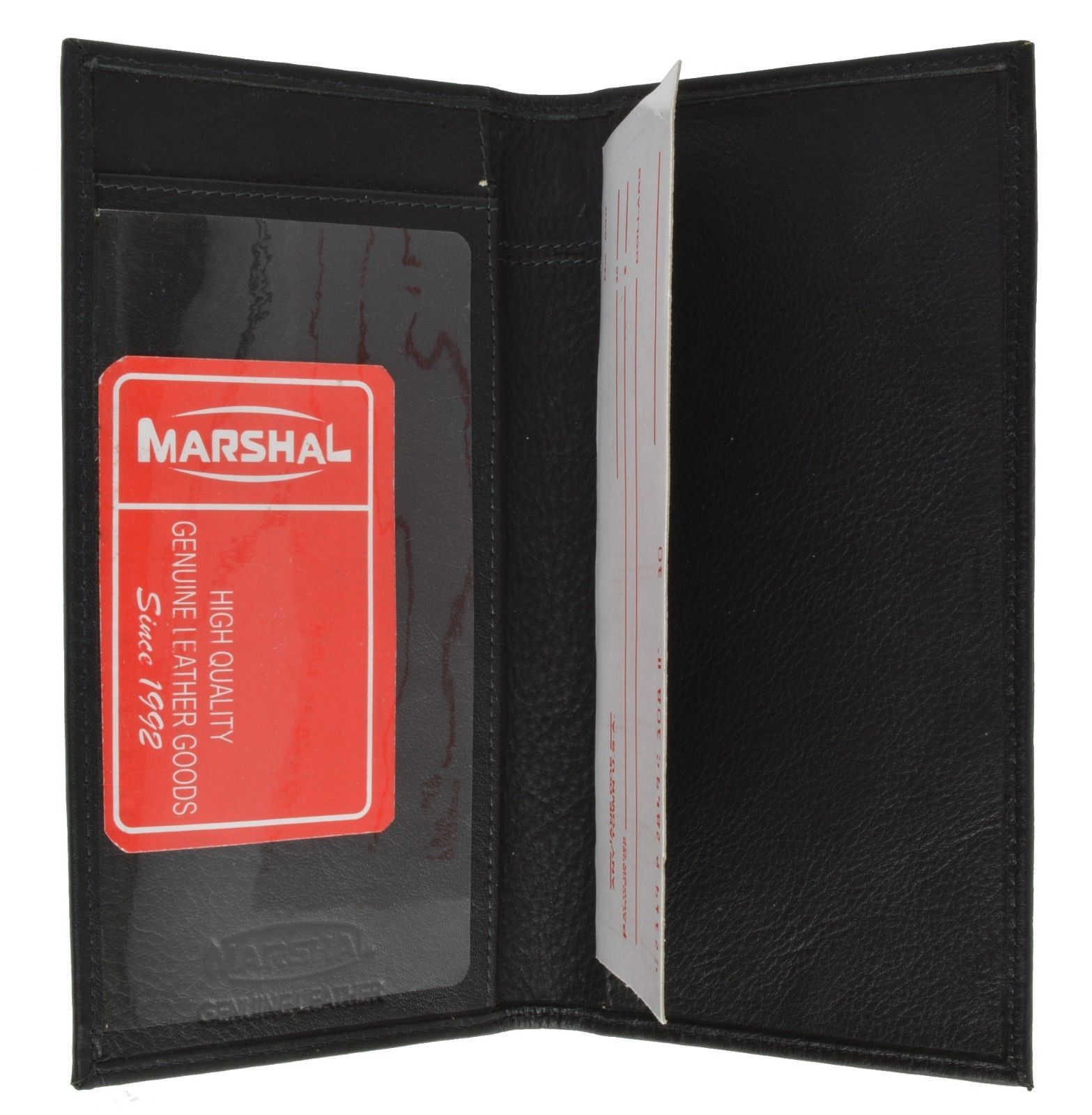 New Men/'s Premium Leather Bifold Credit Card Holder ID Window with Box