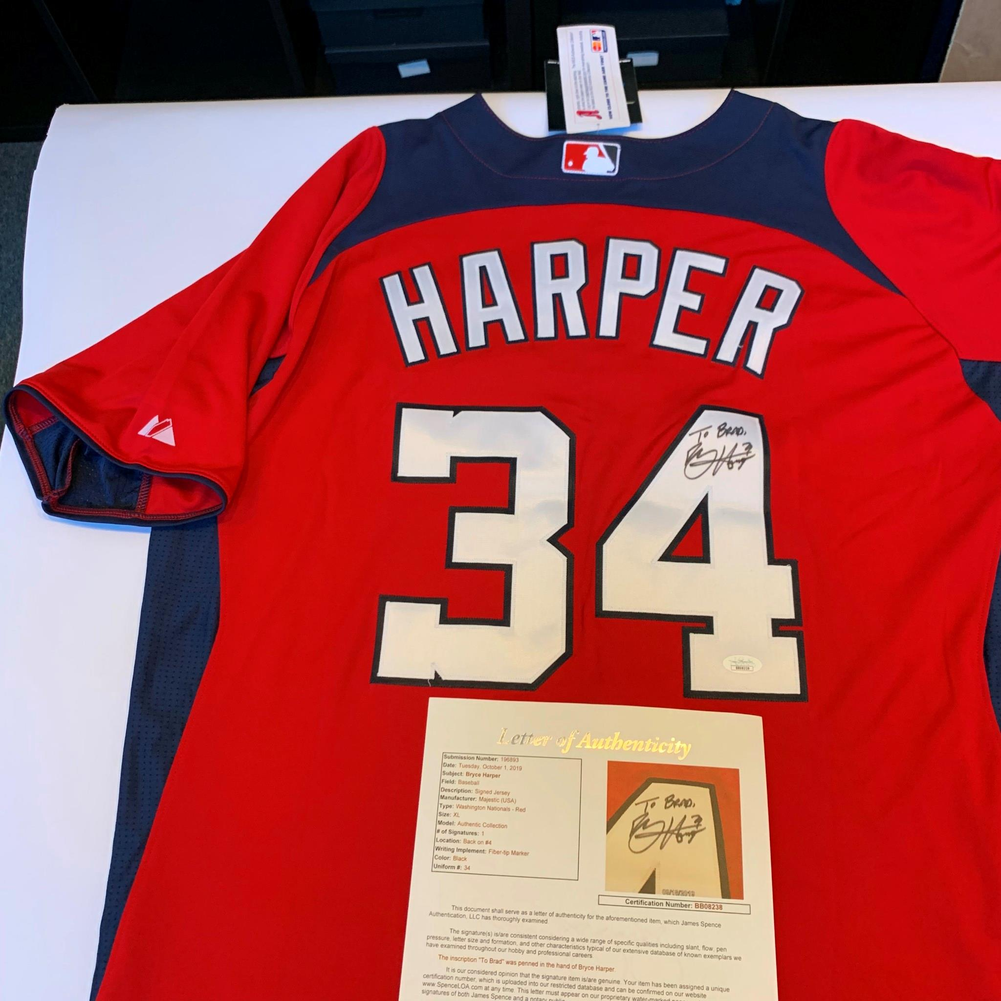 Bryce Harper Signed Autographed Authentic Washington Nationals ...