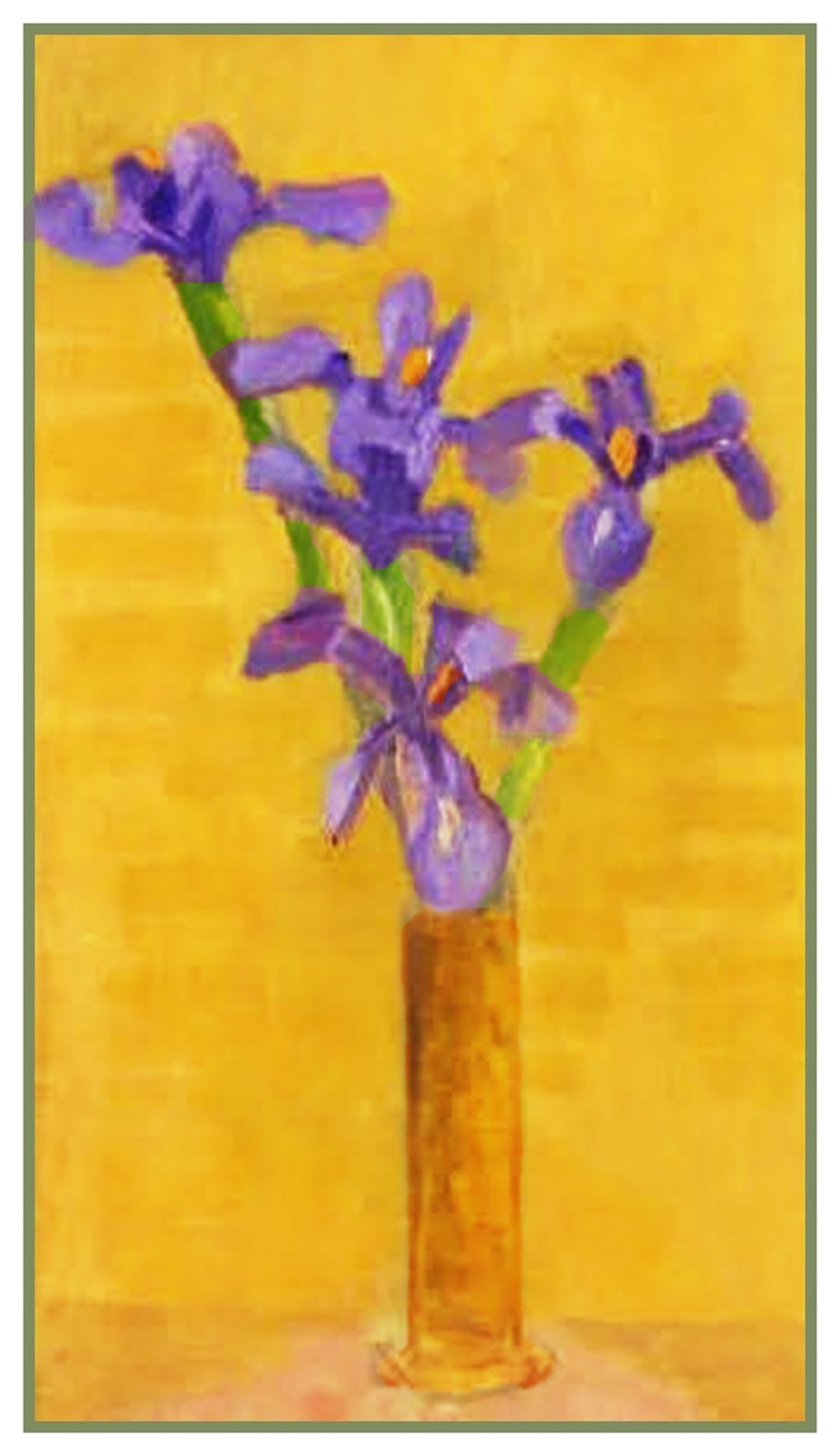Purple Iris Flowers inspired Mary Delany Counted Cross Stitch Pattern