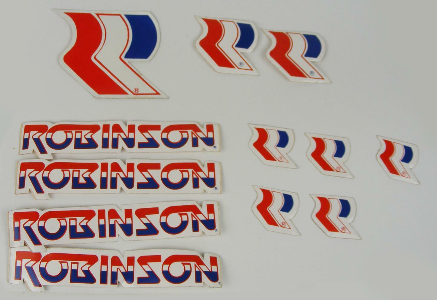1990-95 Robinson decal set all models on chrome