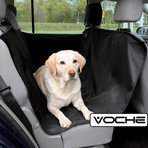 VOCHE 2in1 BLACK RED WATERPROOF CAR REAR BACK SEAT COVER PET PROTECTOR BOOT MAT