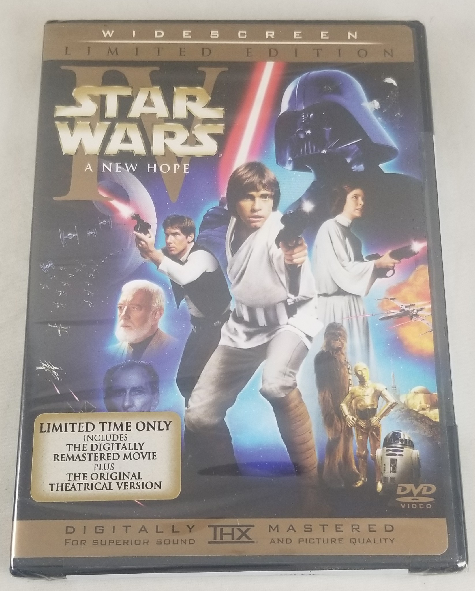 Star Wars Episode Iv A New Hope 2 Disc Dvd Wide Screen Limited Edition Sealed 24543263739 Ebay
