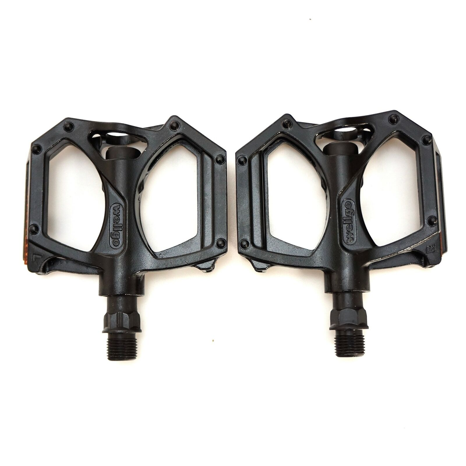 "Wellgo QRD-M194 Aluminum MTB Mountain Bike Pedals 9//16/"" Black"