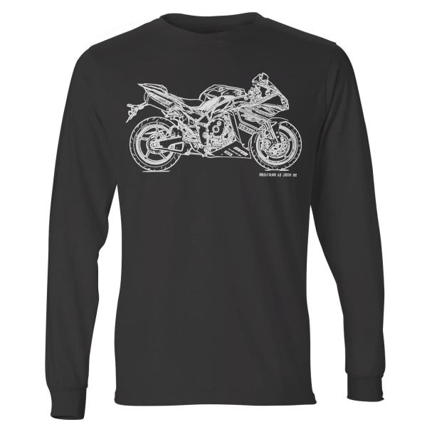 JL Soul Illustration For A Yamaha YZF-R1 2014 Motorbike Fan Hoodie