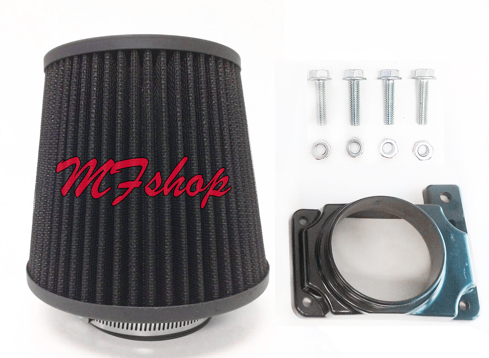 BLUE Filter For 96-99 Taurus SHO 3.4L V8 Mass Air Flow Sensor Intake Adapter