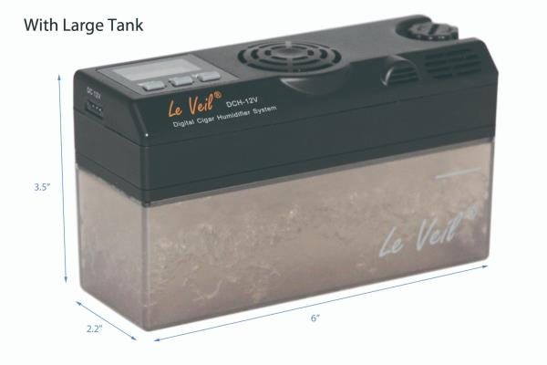 Details about Le Veil DCH 12V5 Digital Cigar humidifier 110V~240V Extra Water tank 'New'