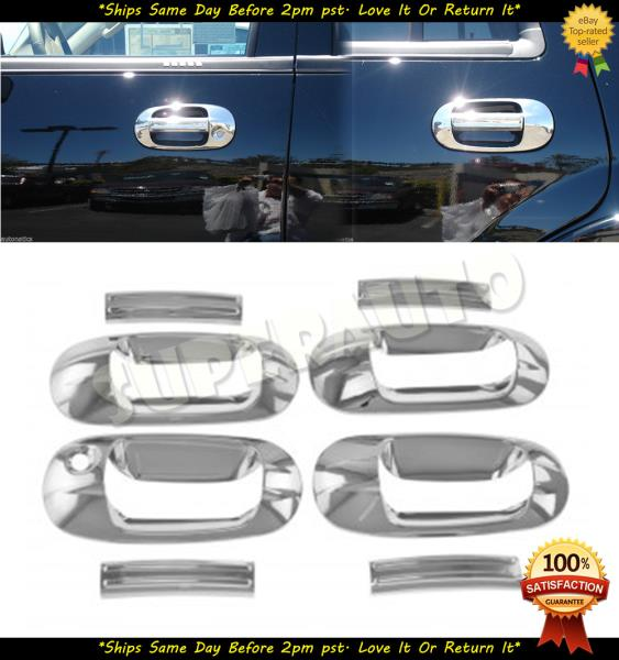DOOR HANDLE COVER W//O PSKH FOR TOYOTA CAMRY 2012-2015 CHROME MIRROR COVER