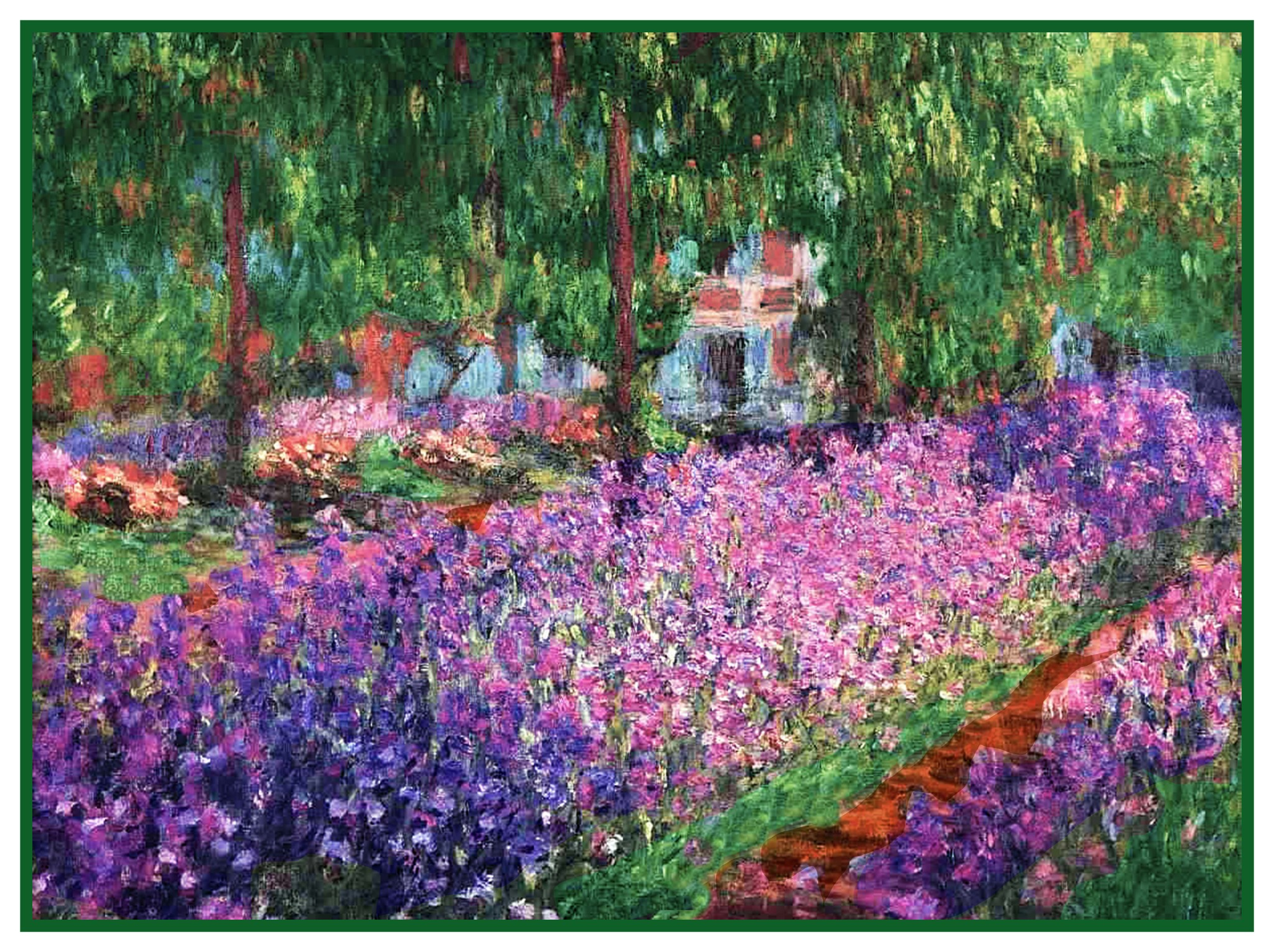 Impressionist Monet/'s The Garden Path Counted Cross Stitch Chart Pattern
