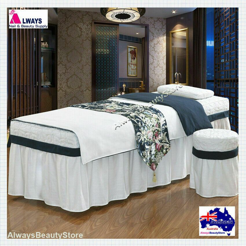 4pc Set High Grade Beauty Bed Cover Salon Spa Massage Table Cotton
