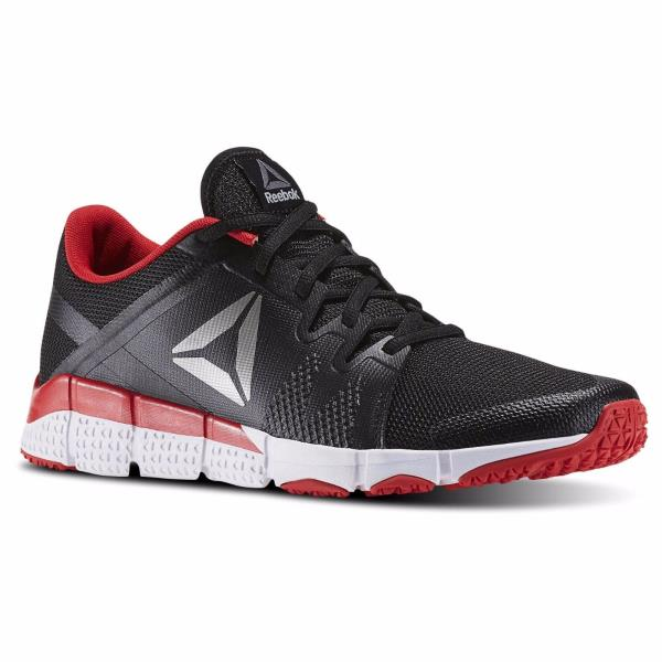 Details about [BD4912] Mens Reebok Trainflex Cross Training Sneaker Black White Red