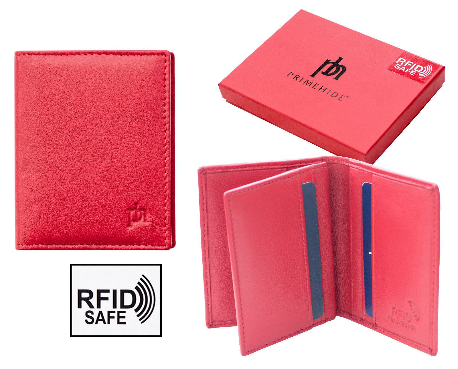 NEW Valentino RFID SAFE Green Leather Credit Card Holder Wallet Gift Boxed