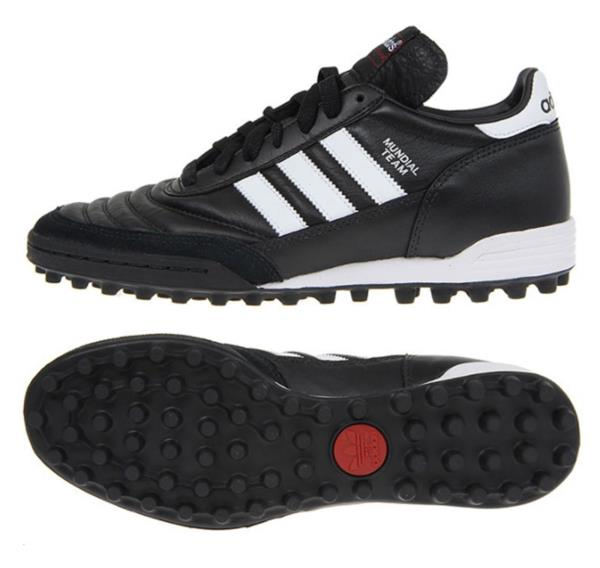 Details about Adidas Men Mundial Team TURF Cleats Futsal Black White Shoes  Soccer Spike 019228