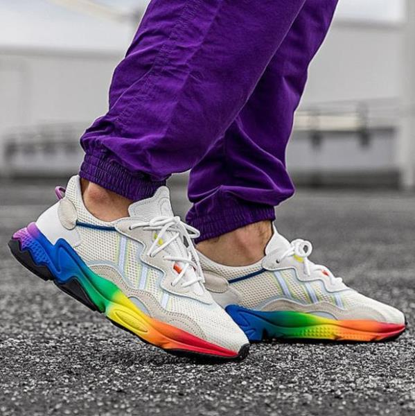 Details about Adidas Ozweego 'Pride' off white rainbow LGBTQ mens sneaker  SIZE 7-13 EG1076 new