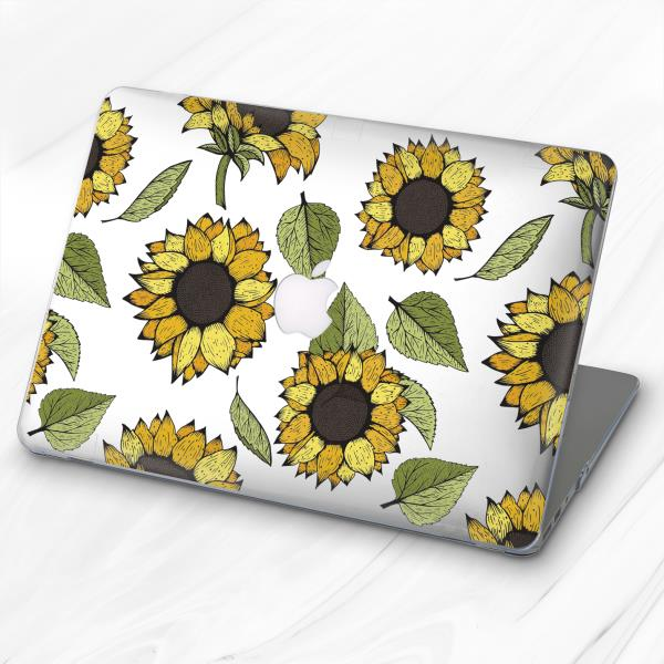 Floral Spring Sunflower Hard Cover Case For Macbook Pro Retina Air 11 12 13 15