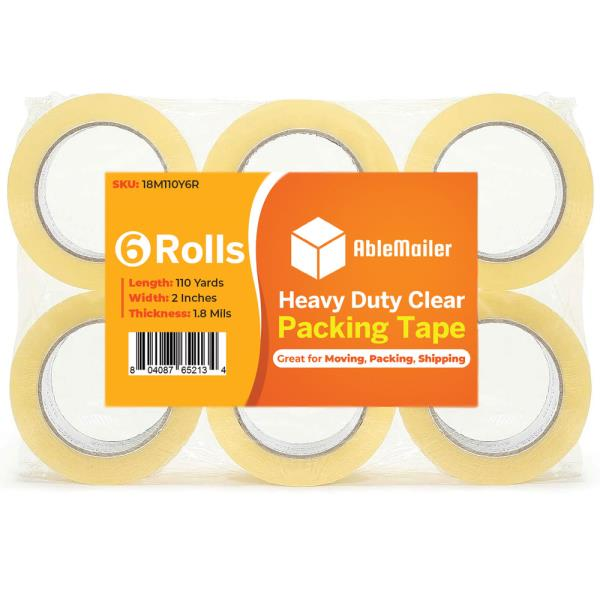 """36 ROLLS CLEAR CARTON SEALING PACKING SHIPPING TAPE 2/"""" 1.8 MIL 110 Yards 330/'"""