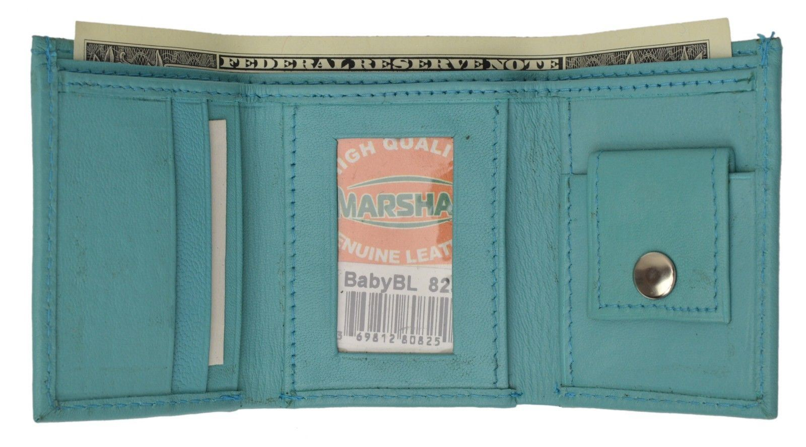 GENUINE LEATHER KIDS SMALL TRIFOLD//MONEY WALLET BY MARSHAL LIME BURGUNDY