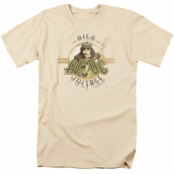 AC//DC Let There Be Rock Kids T Shirt Licensed Rock N Roll Music Band Youth Black