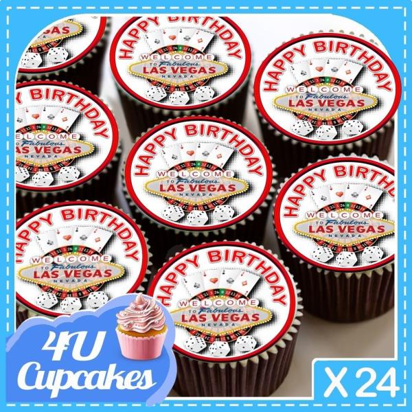 24 Circle Portugal Flags Cup Cake Toppers Decorations Party Birthday