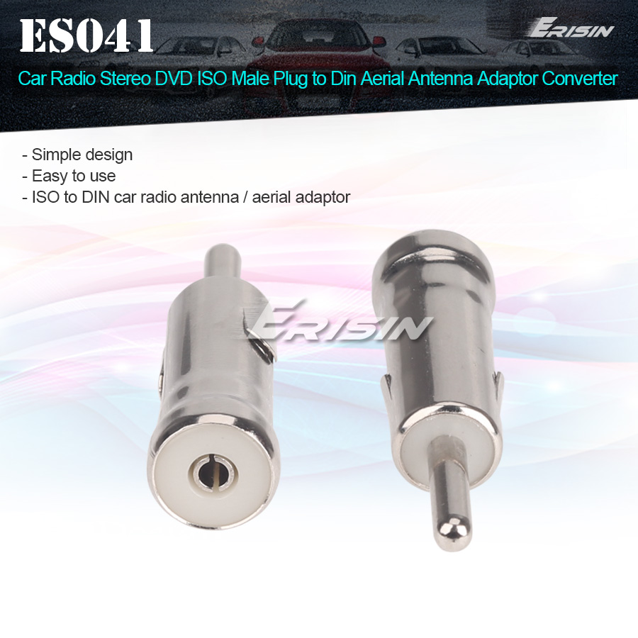 Car Radio Stereo ISO to DIN Antenna Adaptor Aerial Connector For Radio Adapter