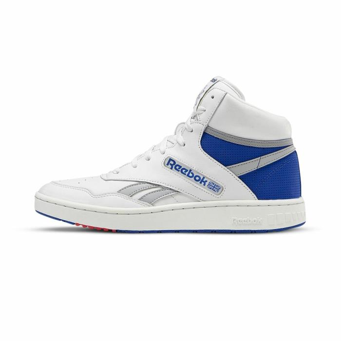 Reebok BB 4600 EH2135 Mens White Leather Lace Up Athletic Basketball Shoes