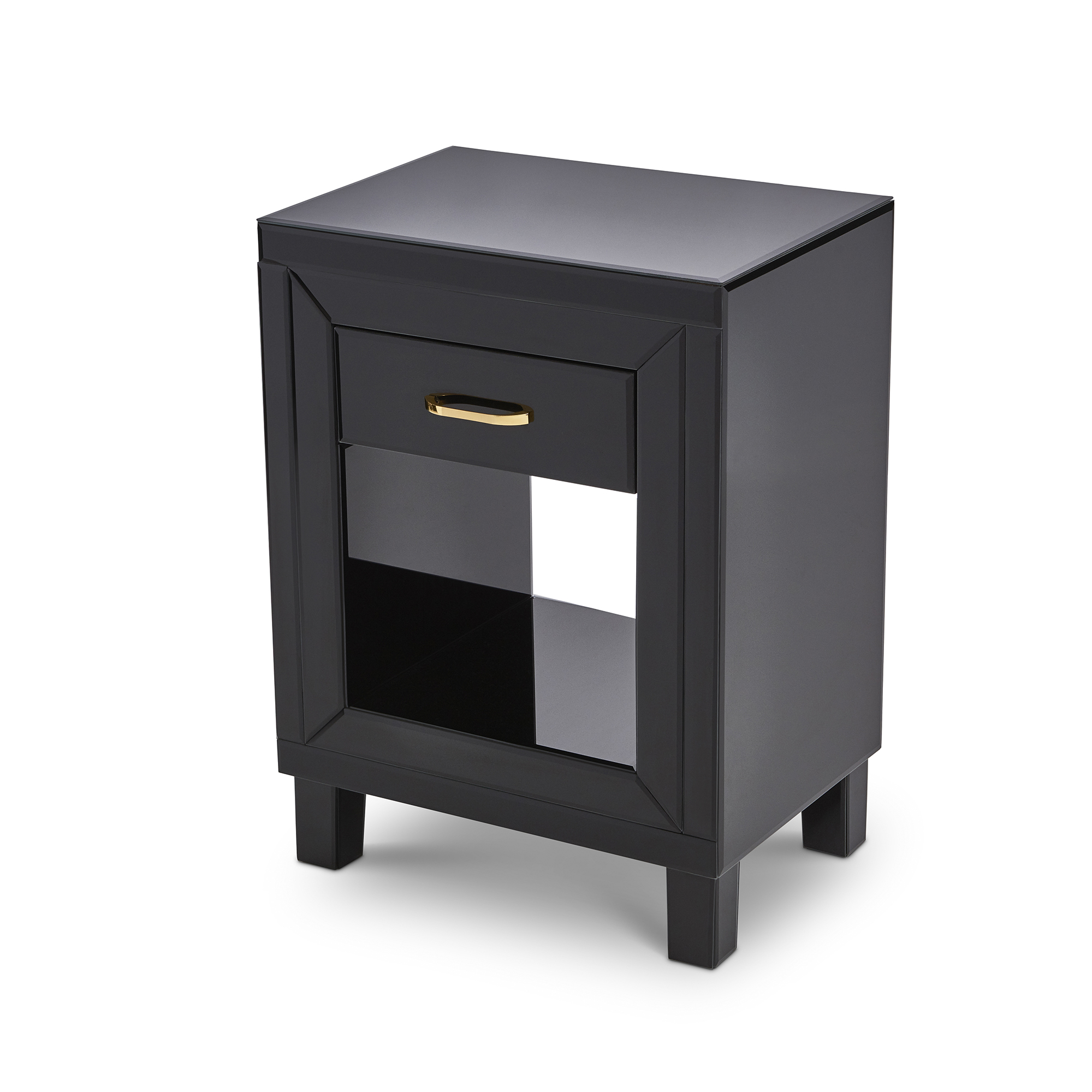 Black Glass Mirrored Bedroom Furniture Dressing Table Sets And Bedside Tables Ebay