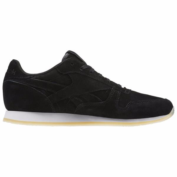 Details about [AR0986] Womens Reebok Classic Leather Crepe Neutral Pop Sneaker Black White