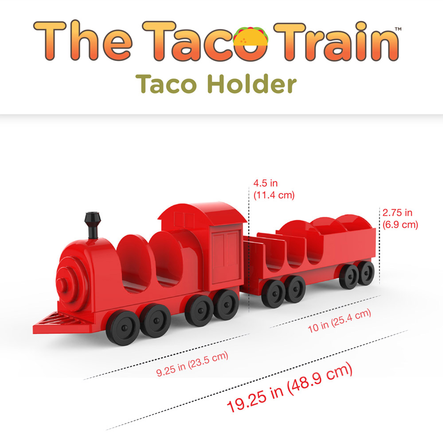 Hard or Soft Tacos and Sauces 5 Piece Taco Holder The Taco Train Taco Stand