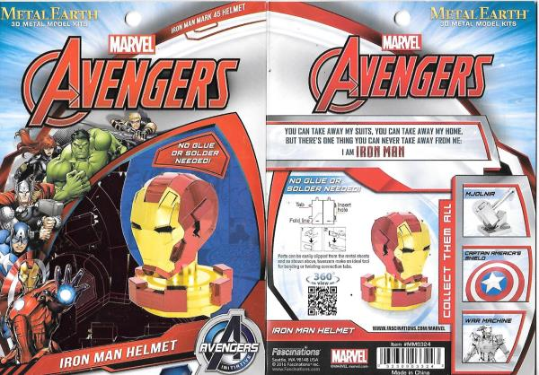 Iron Man Helmet Fascinations Metal Earth 3D Metal Model Kit MMS324