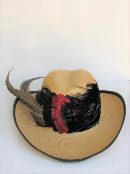 Vintage fashion hat Red Black by Sonni New with tags
