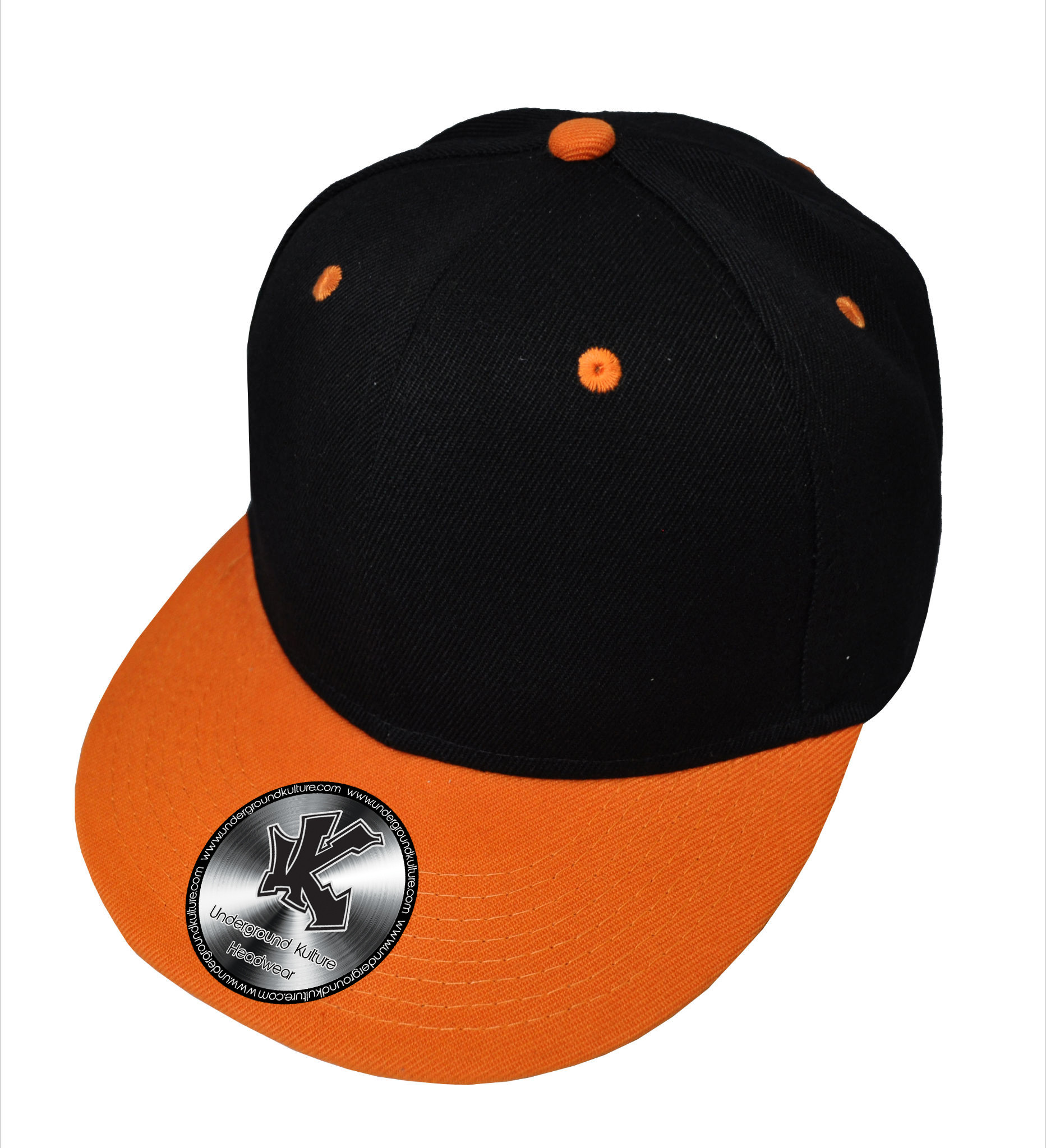 Underground Kulture Pity The Fools Black and Red Snapback Baseball Cap